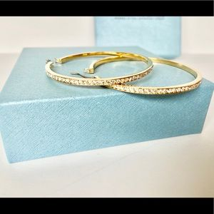 Touchstone Crystal Jewelry - Firm$ BN touchston crystal gold hoops with crystal